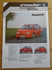 Opel Irmscher Kadett E brochure c1988 German text