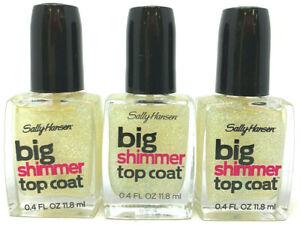 (3) Sally Hansen Big Shimmer Top Coat 0.4 fl oz 110 - Twinkle Snows