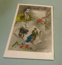 1920 Era Algabeno Spanish Bullfighter RPPC Real Photo Postcard Sports Souvenir