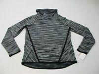 new CHAMPION C9 Womens Size XS Thermal Fleece Black/White Marl Cowl Neck Sweater