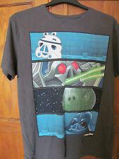 Para Hombre Angry Birds Star Wars camiseta Gris Talla 42 pecho