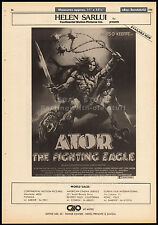 ATOR, THE FIGHTING EAGLE__Original 1982 Trade AD promo / poster__MILES O'KEEFFE