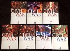 MARVEL CIVIL WAR 1, 2, 3, 4, 5, 6, 7  NM- to NM