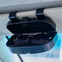 Car Glasses Case Holder Driver Sun Shade Sunglasses Storage Box Black Clip