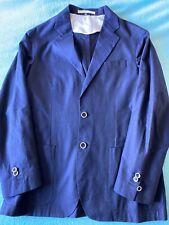 CORNELIANI Beautiful 100% Cotton Navy Men Details Jacket/Blazer Size 50 RRP££££