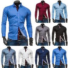 BOLF Herren Freizeithemd Herrenhemd Hemd Langarm Slim Fit Shirt Mix 2B2 Casual