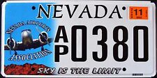 "NEVADA "" SKY IS THE LIMIT - DISCONTINUED !! RARE !!"" NV Graphic License Plate"
