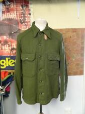 Vintage American Khaki Green Wool Shirt - M
