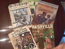 Black Americana lot 5 Early Sheet Music Go To Sleep My Little Pickaninny 1907 On