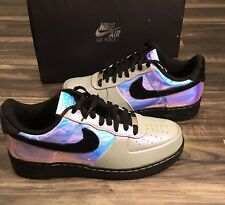 Nike Air Force 1 Low CMFT PRM Mens Sz 10.5 Hologram White Black Deadstock Fast