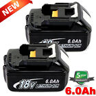 For Makita 18V 6.0Ah LXT Lithium-Ion BL1830 BL1850 BL1860 tool Battery-2Pack