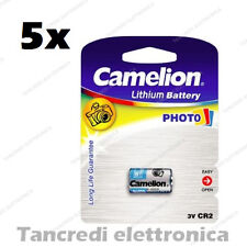 5 BATTERIE CR2 DLCR2 ELCR2 CR15H270 3V 800 MAH ULTRA PHOTO LITIO BATTERIA PILA