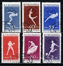 ROMANIA 1960 Olympic Games Rome Complete Set SG 2723 to SG 2728  VFU