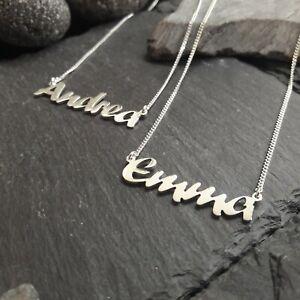 Namenskette mit Wunschname in 925er Silber, Halskette mit Name, NEU, (NK-04)