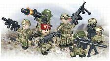 6 Custom LEGO Figures Military Minifigures Army Minifigures Russian Minifigs