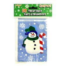 50 congelati Snowman Party PLASTICA SACCHETTI-NATALE e inverno PARTY DECORAZIONI