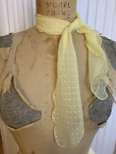 Vintage 60s 70s Yellow Scarf