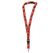 "Georgia Bulldogs 21"" Lanyard Key Chain with Safety Release NCAA Licensed"