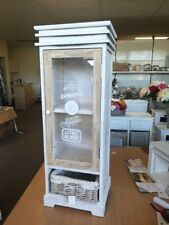 SPECIAL Washed White Wooden Display Stand With Plastic Door(Not WA/NT)