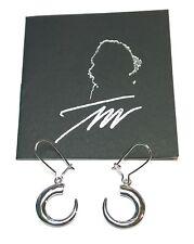 """Tapio Wirkkala Finland - Sterling Silver Earrings """"Tooth of a Wild Boar"""" - NEW"""