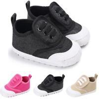 Bébé chaussures garçon fille berceau mou chaussure unique toile Sneakers