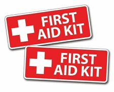 RED First Aid Kit Stickers Decal Camp Boat Kayak SUP Camp Kid Family Jeep ATV HD