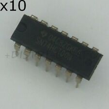 74HCT00 = SN74HCT00N Quad 2-input nand gate DIP-14 Texas RoHS (lot de 10)