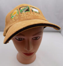 NEW ZEALAND SOUVENIR LEATHER TAN ADJUSTABLE BASEBALL HAT PRE-OWNED ST50