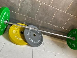 7ft Olympic Bar With Clips