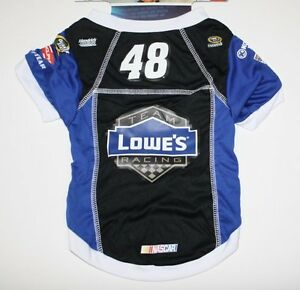 DOG ZONE Jimmy Johnson NASCAR Blue/Black Dog Sports #48 Jersey Lowe's Pet Shirt