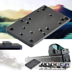 Tactical Mount Plate Base Mount For Glock Compatible Universal Red Dot Sight
