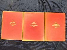 3 THE CHURCH STANDARD BOOKS / HARDBACK / RED COVERS / *UK POST £3.25*