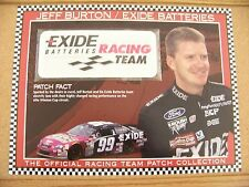 Official Racing Team Patch Jeff Burton Exide Batteries W&W Willabee & Ward