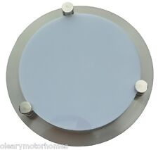 LUMO 12V SIRRUS ROUND CEILING WALL LIGHT HALOGEN 20W STEEL RECESSED H4 CARAVAN