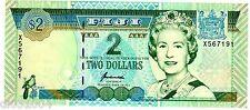 FIJI FIDJI Billet 2 Dollars ( 1996 ) P96br REPLACEMENT Q. ELIZABETH 2 UNC NEUF