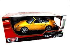 MOTORMAX PORSCHE 911 TURBO CONV YELLOW 1/18 DIECAST CAR 73183YL
