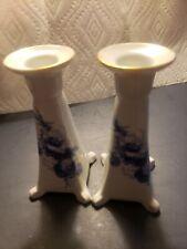 P.A.L.T. Czechs Slovakia Fine Porcelain Candlesticks Trimmed In Gold!