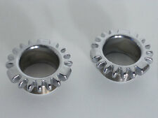 "Early Norton Commando EXHAUST LOCKRING Nut Rose .75"" (CHROME) 06.2464"