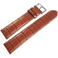 20mm Di-Modell Bali Mens Tan Alligator-Grain Leather German Watch Band Strap