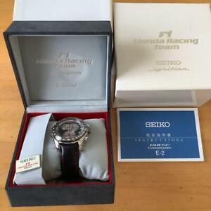 Seiko Limited Edition Chronograph Honda F1 Racing Team Box Kinetic Mens Watch