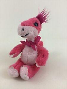 "Build A Bear Mini Pink 7"" Dinosaur with Magnetic Scarf Bandana Plush Stuffed Toy"