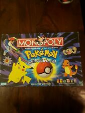 Vintage Pokemon Monopoly 1999 Collectors Edition Board Game - COMPLETE