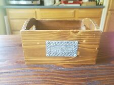 Bath & Body Works Wooden Box with Metal Logo Cosmetic Holder Lotion Tray Display