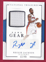 2016-17 National Treasures Game Gear Autographs Reggie Jackson Auto Jersey 2/49