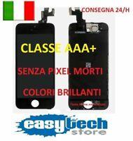 DISPLAY LCD TIANMA iPhone 5S Assemblato COMPLETO Fotocamera Frontale Cassa NERO