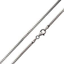 MATERIA Damen Herren Panzerkette Silber 925 antik 2mm Halskette silber + Etui
