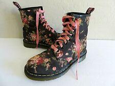 Dr Martens 1460 Air Wair Victorian Flowers Black Canvas Combat Boots Size 6 EU37