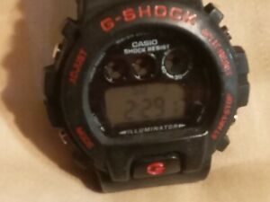 Casio G-Shock Dw-6900cc-6 Red 1289 Mod  Red accent