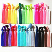 30Pcs Girl Elastic Hair Ties Rubber Band Knotted Hairband Ponytail_Holder F5P4