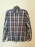 Knights of Round Table Mens Shirt Plaid Button Down M Medium